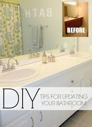 ways to update large bathroom mirrors home