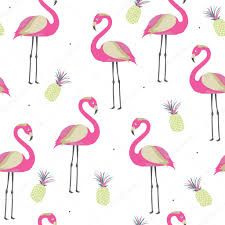 wallpaper with pink flamingos seamless pattern with pink flamingo and pineapples for baby girl