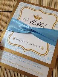 prince baby shower invitations themes royal blue gold and white baby shower invitations as well