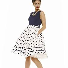lindy bop u0027audrey u0027 mono navy polka dot print vintage style swing