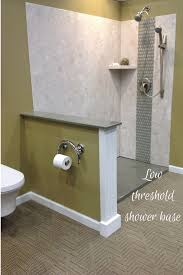 diy shower wall panels and low threshold solid surface shower