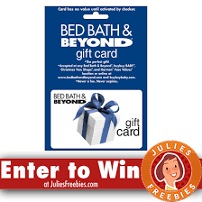 win gift cards online win a 250 00 bed bath beyond gift card julie s freebies