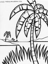 coloring pictures of a palm tree palm tree coloring pages for kids many interesting cliparts