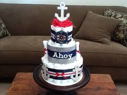 ahoy it u0027s a boy nautical anchor diaper cake baby shower
