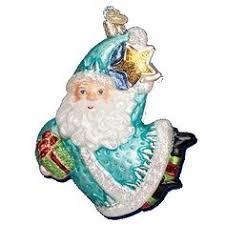 bountiful santa glass ornament old world christmas ornaments
