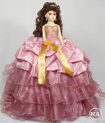 quinceanera dolls heidicollection grace 21 inch quinceanera doll dusty dress