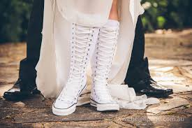 wedding shoes converse converse white wedding boots helen page photography