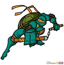 draw michelangelo ninja turtles