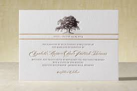 letterpress invitations oak tree letterpress wedding invitations by clark minted