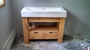 Porcelain Bathroom Vanity Custom Porcelain Top Knotty Pine Vanity By Ziegler Woodwork And