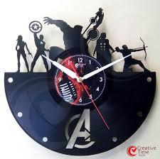 awesome superhero vinyl wall clocks sci fi design
