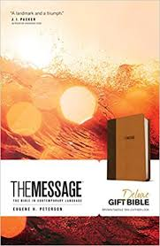 gift bibles the message deluxe gift bible the bible in contemporary language
