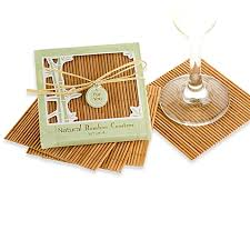 coaster favors kate aspen bamboo coaster wedding favors set of 4 bed