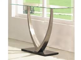 small glass console table shinny glass console table design incredible table ideas