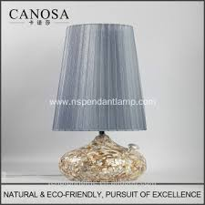 Pedestal Manufacturers China Canosa Eco Friendly Chinese Seashell Table Lamp With
