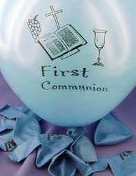 First Holy Communion Decorations First Communion Balloon Decorations Blue First Holy Communion