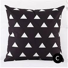 Decorative Pillows Modern Geometric Black And White Decorative Pillows For Couch Modern