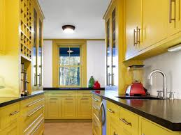 dual tone yellow design ideas kitchen decorating white and themes