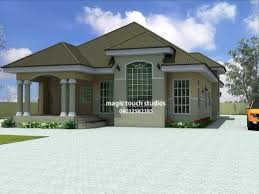 Simple 3 Bedroom House Plans with Fantastic House Plans Ghana 3 Bedroom House Plan For A Half Plot