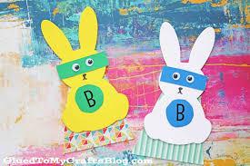easter superhero bunnies kid craft glued to my crafts