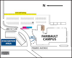 scc map faribault cus hours directions about