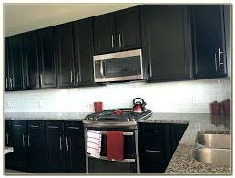 glass tile backsplash with dark cabinets gray subway tile backsplash dark cabinets pijon club