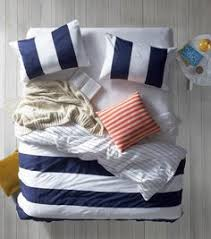 Nautical Bed Set Room Essentials Rugby Stripe Comforter Bedroom Things