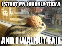 Meme Fail - i start my journey today and i walnut fail meme boomsbeat