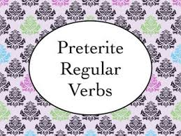 preterite regular ar er ir verbs bundle slideshows