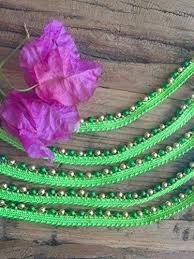 lime green beaded trim embellished beaded trim