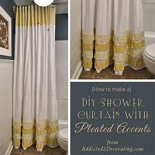 How To Make Curtains Out Of Drop Cloths 15 Diy Shower Curtain Projects Anyone Can Make
