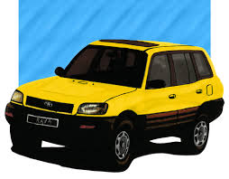 toyota rav4 illustrated by sergio estrada paintings