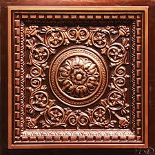 Faux Tin Ceiling Tiles Drop In by Antique Copper Ceiling Tiles