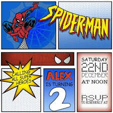 spiderman birthday invitation sample invitations online