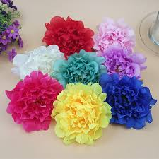 wholesale silk flowers silk peony flowers 12cm artificial peonies heads 100 for wedding