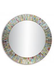 bohemian rainbow rhapsody glass mosaic decorative wall mirror