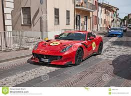 Ferrari F12 2017 - ferrari f12 tdf 2016 in mille miglia 2017 editorial photography