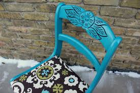 Teal Colored Chairs by Antique White A Second Teal Rose Back Chair