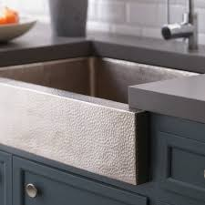 Paragon Brushed Nickel Farmhouse Sink Native Trails - Hammered kitchen sink