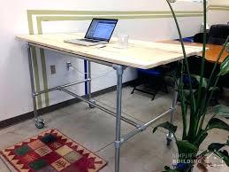 Diy Pipe Desk Diy Pipe Desk Pipe Standing Desk Diy Pipe Table Frame Rroom Me