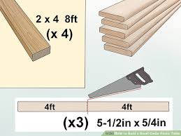 how to build a small cedar picnic table 13 steps with pictures