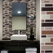 kitchen stick on backsplash kitchen backsplash peel and stick aspect glass on wall tiles for