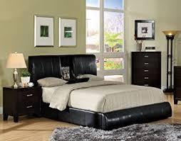 Platform King Bed Amazon Com Furniture Of America Martie Upholstered Platform King
