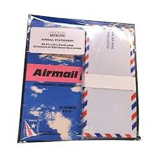 jam paper airmail stationery set 25 10 envelopes and 22