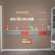 bowser s castle theme wall decal shop fathead for mario decor