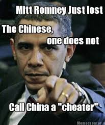 Cheater Meme - meme creator mitt romney just lost the chinese call china a
