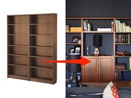 Ikea Deus62 Tall Narrow Bookcase With Doors Ikea Bookshelf Hack Diy Bookcases
