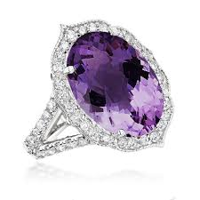 amethyst rings images Gemstone cocktail rings 14k white gold diamond purple amethyst jpg