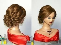 bridal curly updo hairstyles for medium hair прическа на свадьбу