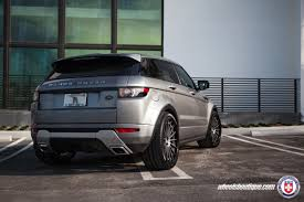 range rover rose gold range rover evoque with hre rs103 in satin charcoal hre
